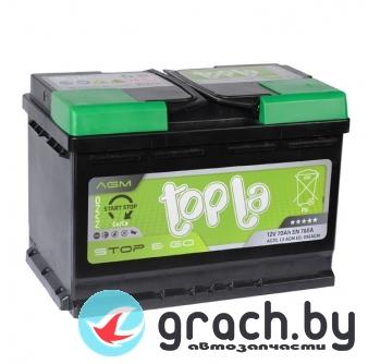 Аккумулятор Topla (Топла) AGM Stop&Go 80 А.ч.