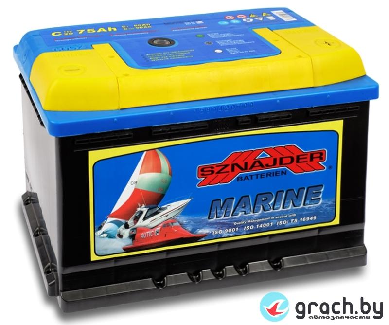 Аккумулятор лодочный Sznajder Marine 75 А.ч. (тяговая)