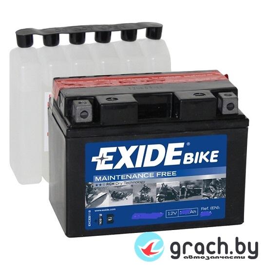 Аккумулятор для мотоцикла EXIDE (Эксайд) 4 Ah 70 А (ETX5L-BS) AGM