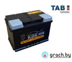 Аккумулятор KBK (TAB) 55 А.ч.  R низк. (480A,  242*175*175)