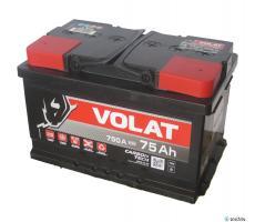 Аккумулятор Volat (Волат) Carbon Tech 75 А.ч. низкий