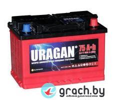 Аккумулятор Uragan 75 А.ч. L+ 600 А