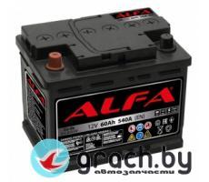 Аккумулятор автомобильный ALFA (Альфа) Hybrid 60 А.ч. R+