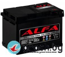 Аккумулятор автомобильный ALFA (Альфа) Hybrid 75 А.ч.