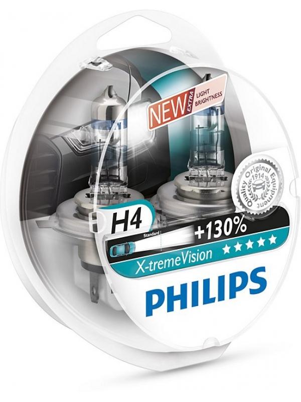 H4 PHILIPS X-TREME VISION +130% 12V 60/55W 12342XV+S2